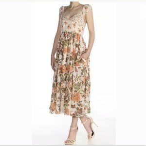 Free People Floral Midi Dress Multicolor